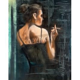 Obraz Portrait of the woman with a cigarette
